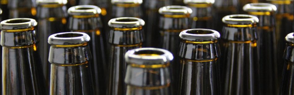 Tomme ølflasker