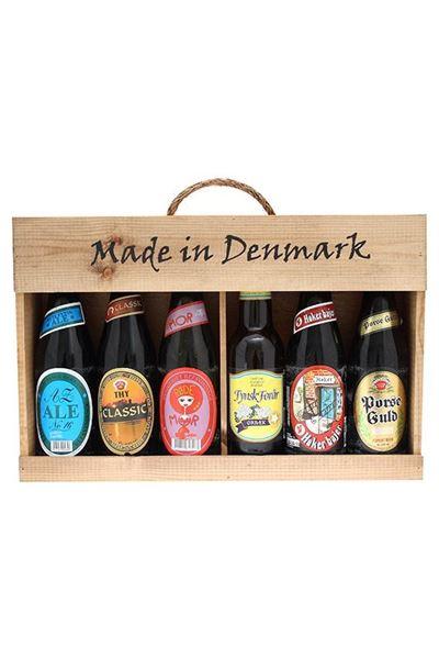 Billede af Made in Denmark trægavekasse (6x330ml)