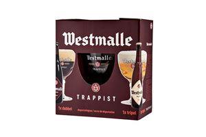 Billede af Westmalle 2 øl og 1 glas