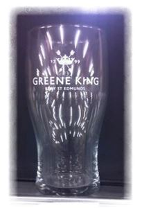 Billede af Glas Greene King pint .