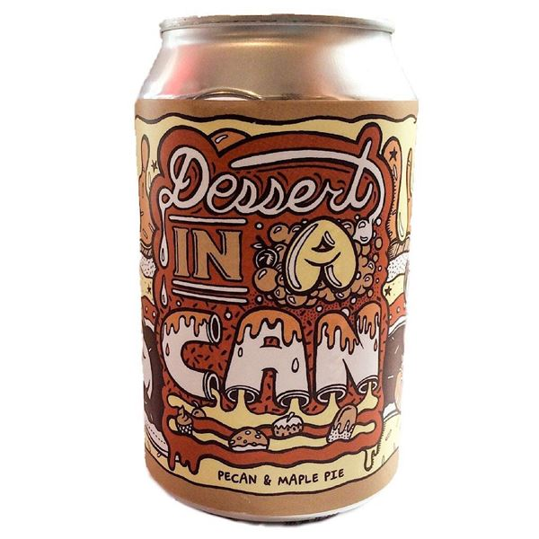 Billede af pecan & maple pie - dessert in a can