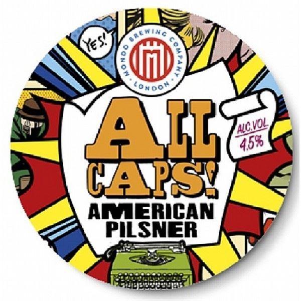 Billede af All Caps American pilsner - Mondo Brewing Co.