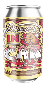 Raspberry Salted Caramel Cheesecake - Dessert In A Can - Amundsen Bryggeri