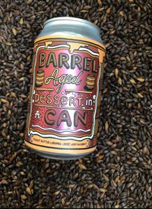 Peanut Butter Caramel Crisp, Jam Doughnut - Barrel Aged Dessert In A Can - Amundsen Bryggeri