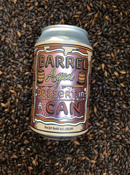 Rocky Road Ice Cream - Barrel Aged Dessert In A Can - Amundsen Bryggeri