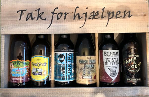 Tak For Hjælpen - Trægavekasse (6x330ml) ØL