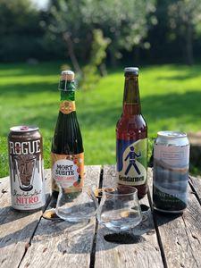 Smagskasse med 4 spændende øl og 2 Teku taster glas