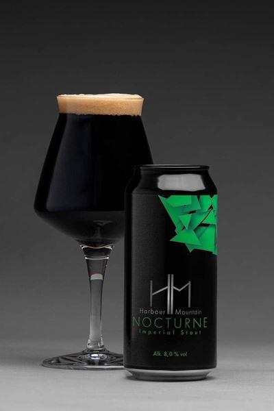 Nocturne, Imperial Stout 8%. Harbour Mountain - Sønderborgs lokale øl.