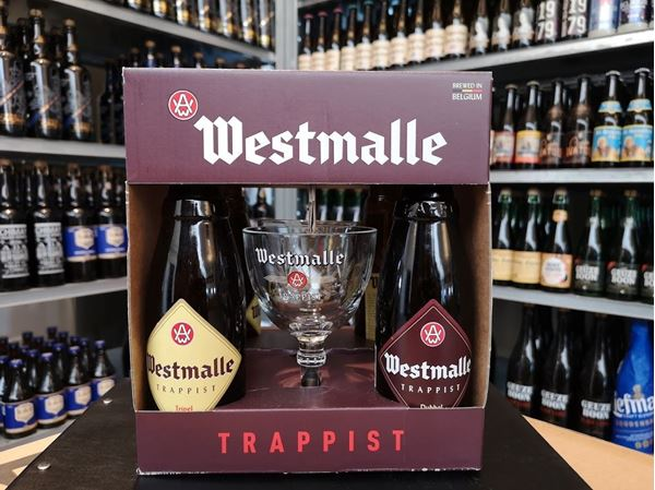 Westmalle Gaveæske - 4 Øl Og 2 Glas