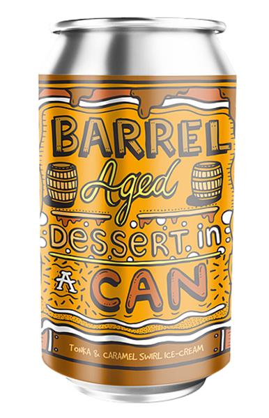 Tonka & Caramel Swirl Ice-Cream - Barrel Aged Dessert In A Can - Amundsen